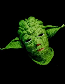 Fashion Green Yoda Woolen Knitted Octopus Mask With Octopus Cap