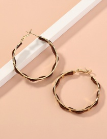 Fashion Gold Color Circle Wound Alloy Earrings