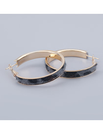 Fashion Gray Round Alloy Flannel Earrings