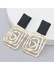 Fashion Gold Color Geometric Alloy Earrings