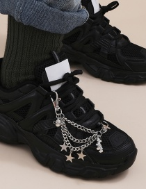 Fashion White K Star Tassel Universe Alloy Multilayer Shoe Chain
