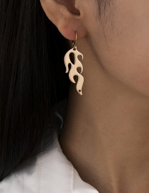 Fashion Gold Color Hollow Flame Alloy Earrings