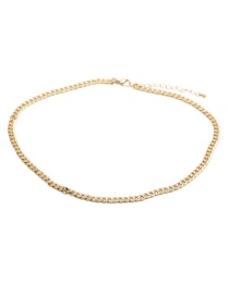 Fashion 50cm Long Necklace (type B) Copper Gold-plated Thick Chain Stitching Necklace