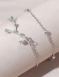 Fashion White K Virgo Diamond Beaded Bracelet Set