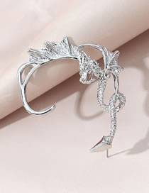 Fashion Silver Color Dragon Alloy Unilateral Earrings