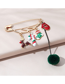 Fashion Sock Christmas Series Drip Oil Socks Glove Brooch