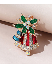Fashion Bells Christmas Series Christmas Bell Diamond Alloy Brooch