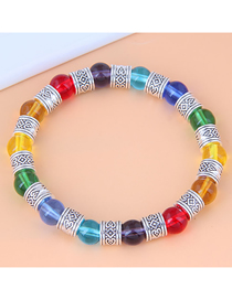 Fashion Color Metal Glass Beads Bracelet