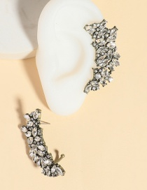 Fashion White Hollow Crescent Hollow Earrings