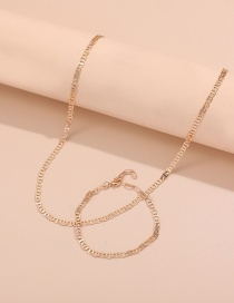 Fashion Golden Suit 1 Thin Chain Clavicle Chain Bracelet Set