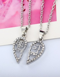 Fashion Silver Color Hollow Stitching Letter Love Multi-layer Necklace