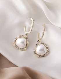 Fashion Geometry Geometry Earrings With Pearl And Zircon