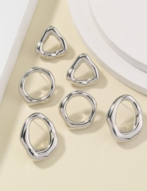 Fashion Silver Color Geometric Irregular Alloy Earring Set