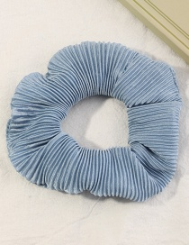 Fashion Blue Pure Color Pleated Large Intestine Loop Hair Rope