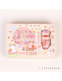 Fashion Love Cat Printed Cartoon Paper Tape Hand Account Sticker Set