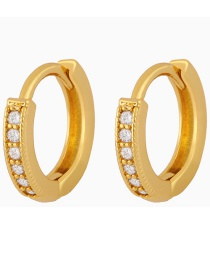 Fashion Big Gold-plated Copper Earrings With Zircon