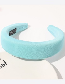 Fashion Mint Green Fabric Sponge Solid Color Wide-brimmed Headband Reviews