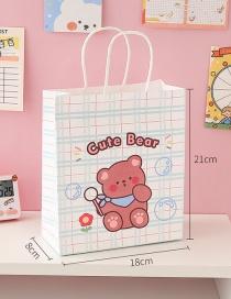 Fashion Bubble Bear Girl Print Gift Bag