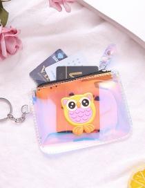 Fashion Owl Pvc Laser Owl Unicorn Coin Purse