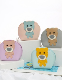 Fashion Series 2 Uniform Color Mixing Animal Stitching Contrast Coin Purse