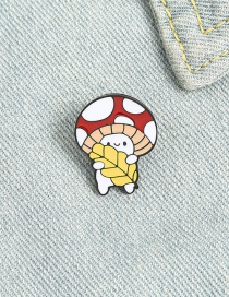 Fashion Mushroom Mushroom Brooch In Lacquered Enamel