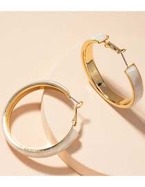 Fashion Gold Color Geometric Marble Circle Alloy Earrings