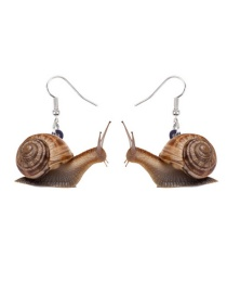 Fashion Snails Acrylic Snail Alloy Earrings