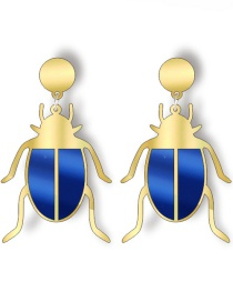 Fashion Beetle Mirror Acrylic Beetle Earrings