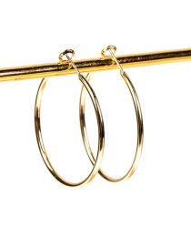 Fashion In Geometric Large Circle Gold-plated Copper Earrings