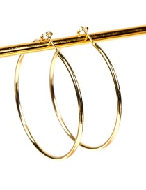 Fashion Big Geometric Large Circle Gold-plated Copper Earrings