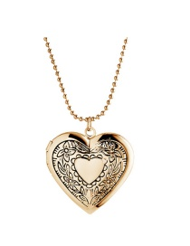 Fashion 18k Gold Glossy Version Printed Love Photo Box Pendant Necklace