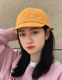 Fashion Yellow Letter Embroidery Short Brim Cap