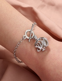 Fashion Silver Color Natural Freshwater Oyster Pearl Elephant Bracelet