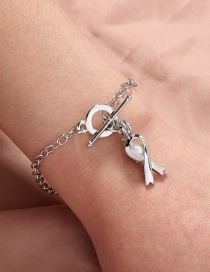 Fashion Silver Color Natural Freshwater Oyster Pearl Scarf Cage Bracelet
