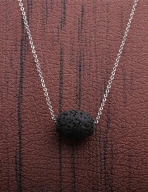 Fashion 1 Volcano Volcanic Stone Geometric Thin Chain Necklace