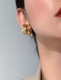 Fashion Golden Cross Thread No Pierced Ear Clip