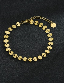 Fashion Bracelet Oval 18k Gold Plated Titanium Steel Disc Necklace Bracelet