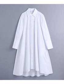 Fashion White Lapel Single-breasted Loose Shirt Top
