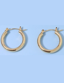 Fashion Small Round Alloy Hollow Earrings