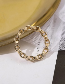 Fashion Number 6 Ultra-fine Chain Hollow Geometric Alloy Ring