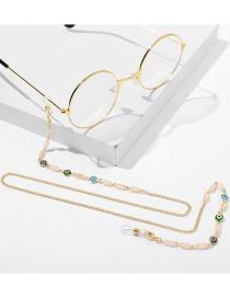 Cadena De Gafas De Cadena Fina De Aleación De Ojo De Goteo De Aceite Antideslizante