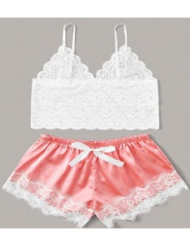 Fashion Watermelon Red Lace Perspective Underwear Set