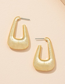 Fashion Golden Color Geometric Alloy Hollow Earrings