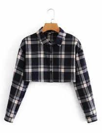 Fashion Plaid Short Plaid Long Sleeve Shirt