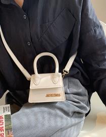 Fashion White Mini One-shoulder Portable Messenger Bag