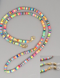 Fashion Yellow Multifunctional Non-slip Colored Soft Clay Necklace
