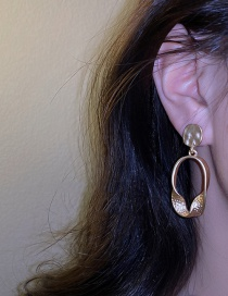 Fashion Silver Color Needle Irregular Earrings Geometric Matte Irregular Metal Stud Earrings