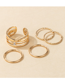 Fashion Gold Color Alloy Gold Ladies 5-piece Ring