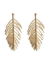 Fashion Gold Color Alloy Leaf Earrings