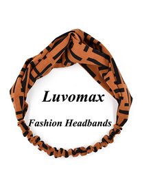 Fashion Brown Cross Letter Headband